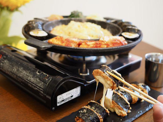 写真映えNO.1!のび〜るチーズキンパの「KYON」