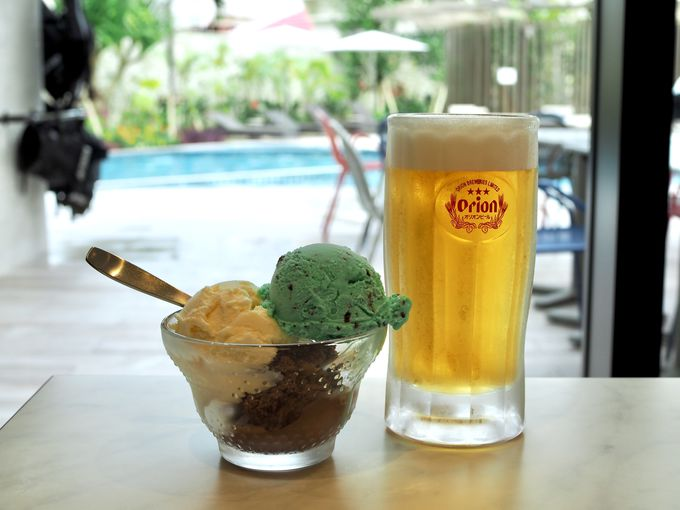 チェックイン前、チェックアウト後もOK!ビールとアイスの無料サービス