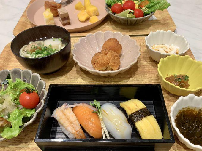 にぎり寿司もある豪華な朝食ビュッフェ