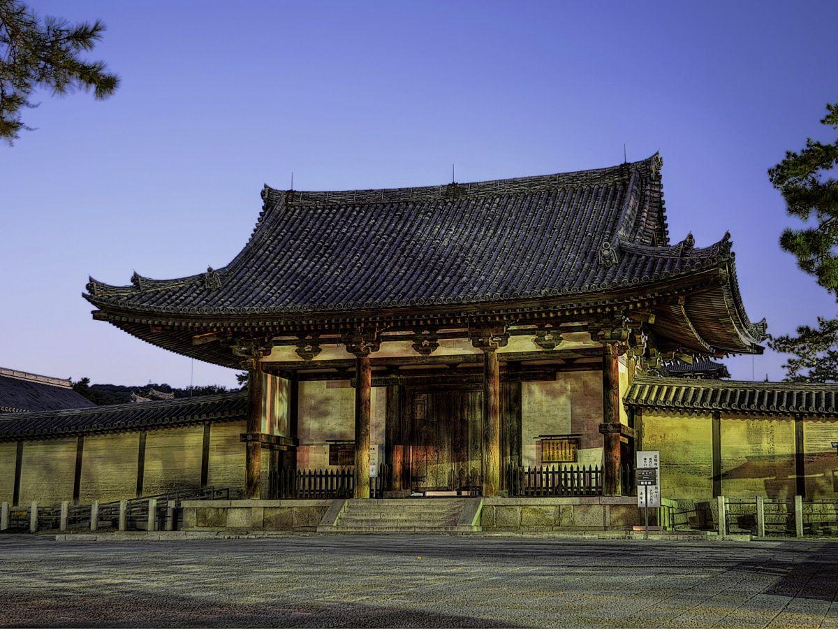 南大門 〜 法隆寺で最も新しい国宝建築