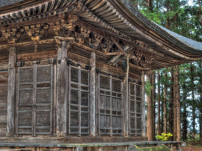本格的な禅宗様建築の田子薬師堂(常福院薬師堂)