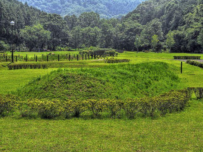 山麓部の遺構にも注目! 栃本公園には戦国時代の土塁が残る