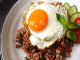 タイの名物料理「ガパオライス」をおうち時間で作ってみよう!