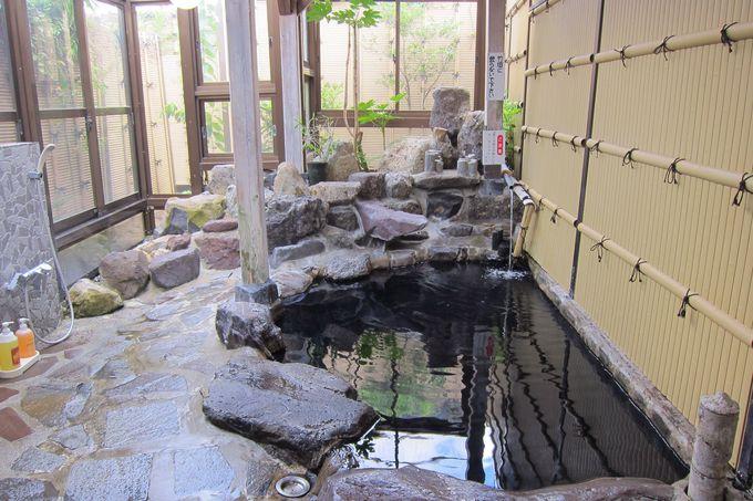 瓦そばと一緒に温泉も満喫