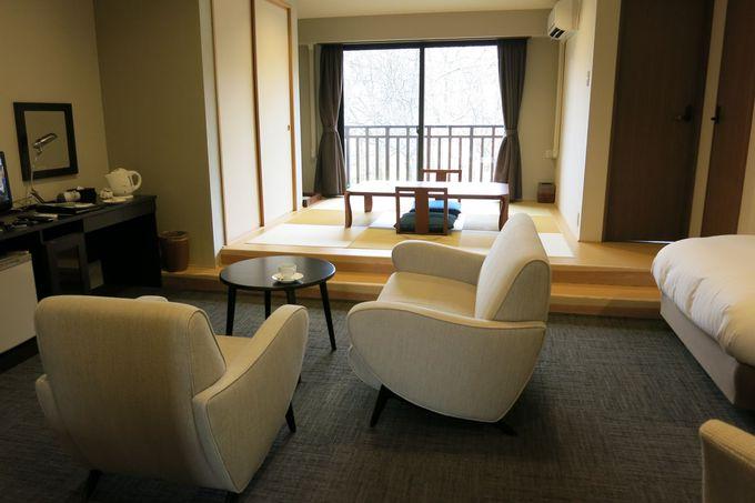 モダンで落ち着いた客室も魅力的