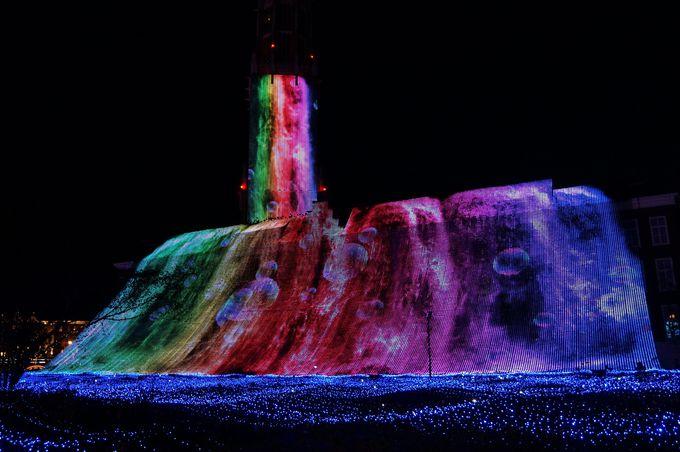 日本一の高さ66メートル!光の滝