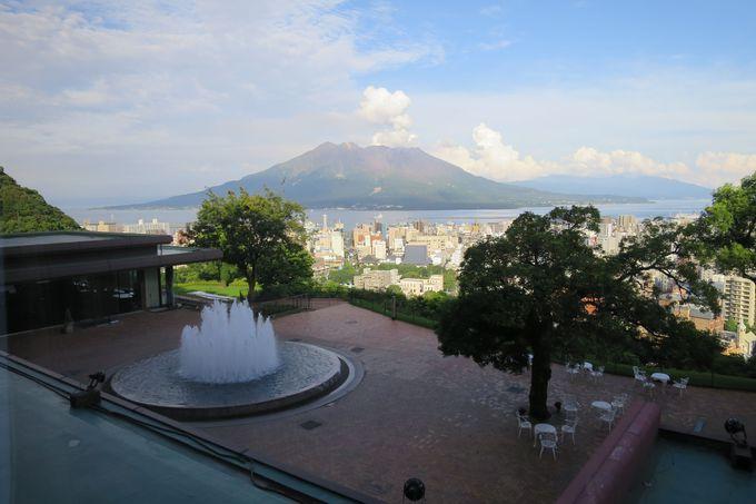 鹿児島市街地や桜島を見渡せる眺めの良さ