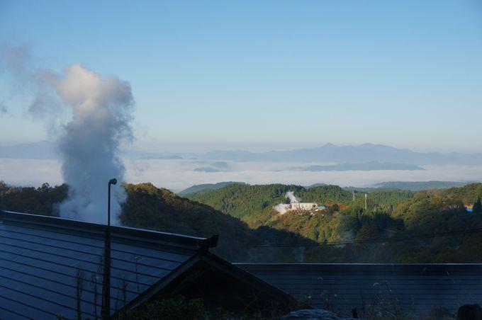 夕焼けや朝の雲海は絶景!露天風呂から眺めよう