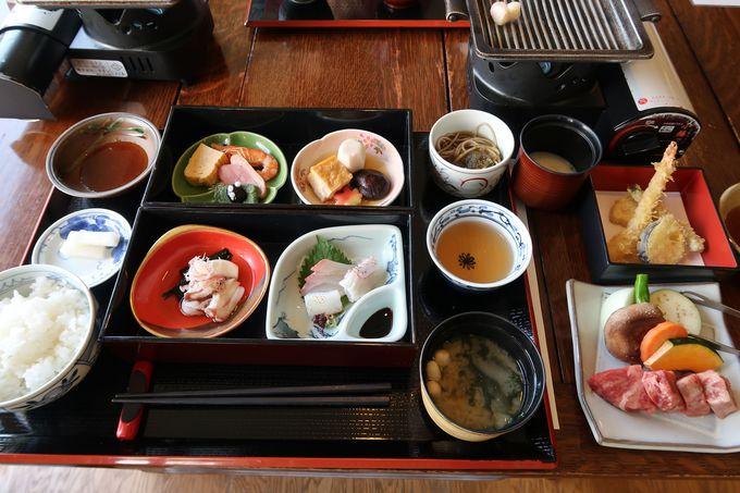 豊(とよ)の幸をふんだんに使った昼食プランが充実!