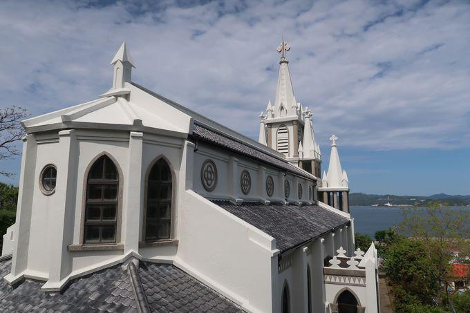 長崎湾を望む美しい教会「馬込教会」と「大明寺教会」