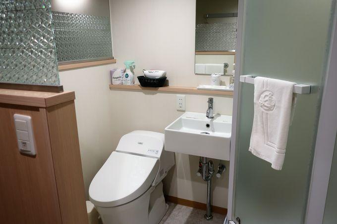 シャワーブース付きの客室も快適!