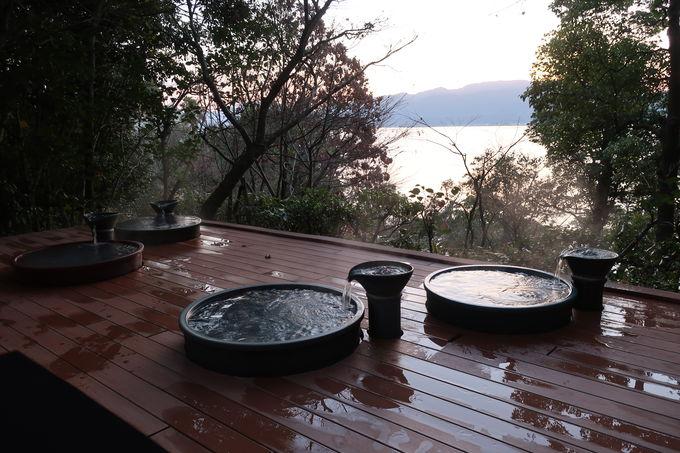 温泉施設「ペルラの湯舟」宿泊者専用の浴場も完備