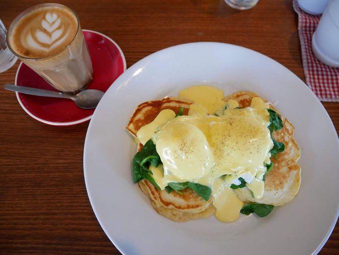 ブランチにはHelga's Pancake houseでパンケーキとコーヒーを