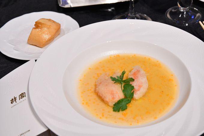 身体によいコース料理、特におすすめは高級スープ「佛飛牆」