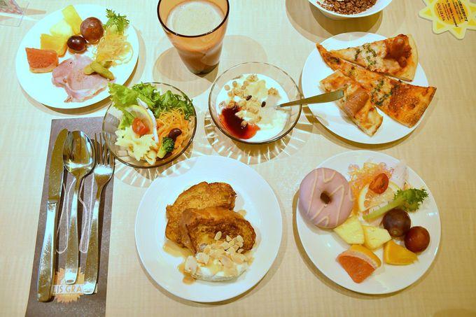 朝食ブッフェも女性好みのメニューがズラリと揃う
