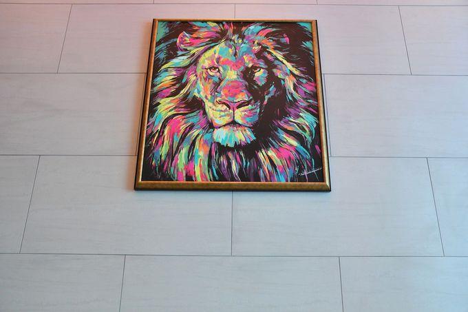 こだわりの朝食、ホテル内にいる「ライオン」にも注目
