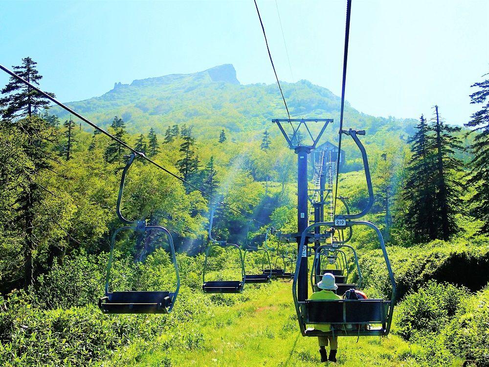黒岳登山スタートはロープウェイ&リフトで一気に7合目へ