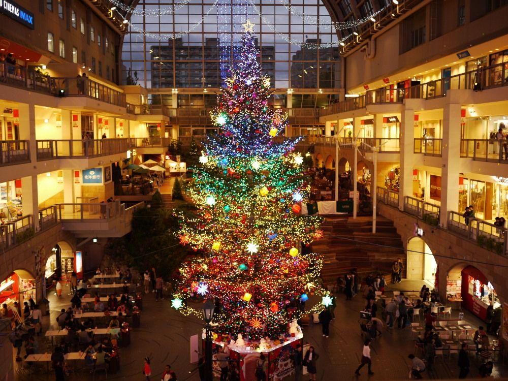 煌くジャンボクリスマスツリー☆冬を暖かく楽しめるサッポロファクトリー