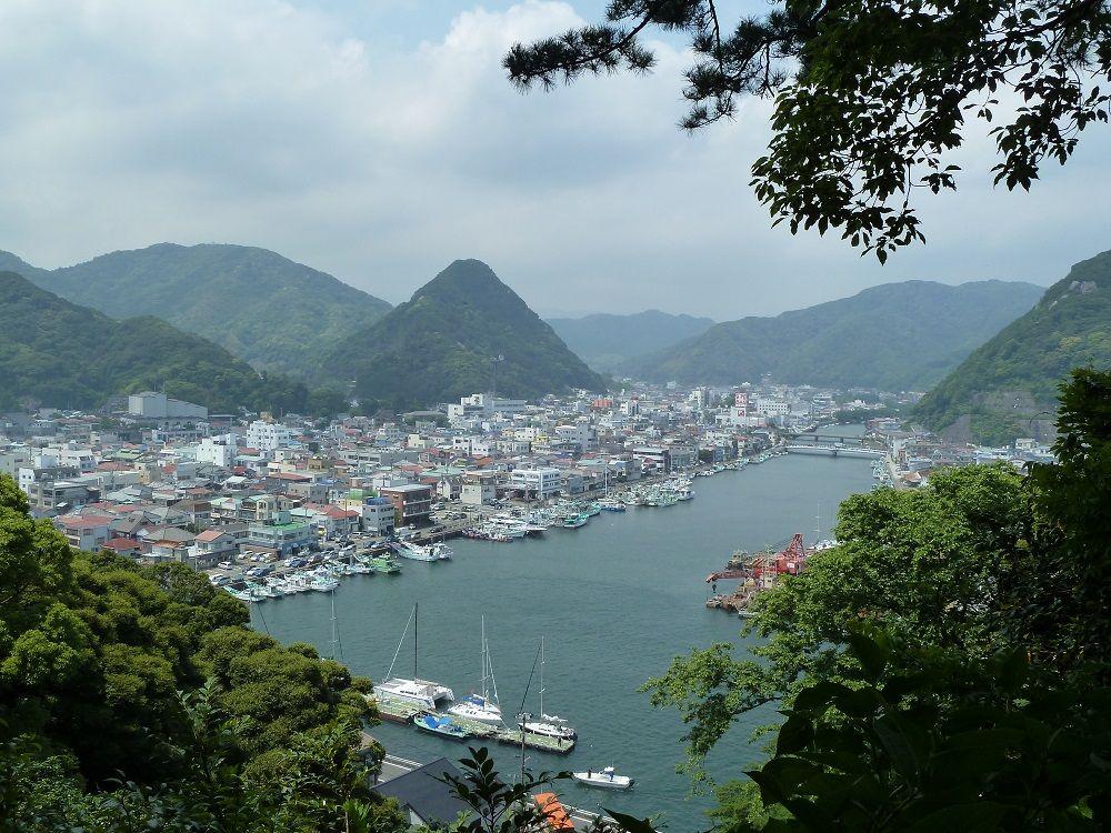 下田港を見下ろす絶景
