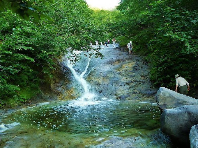 大自然に広がる天然の秘湯「カムイワッカ湯の滝」へ行こう!