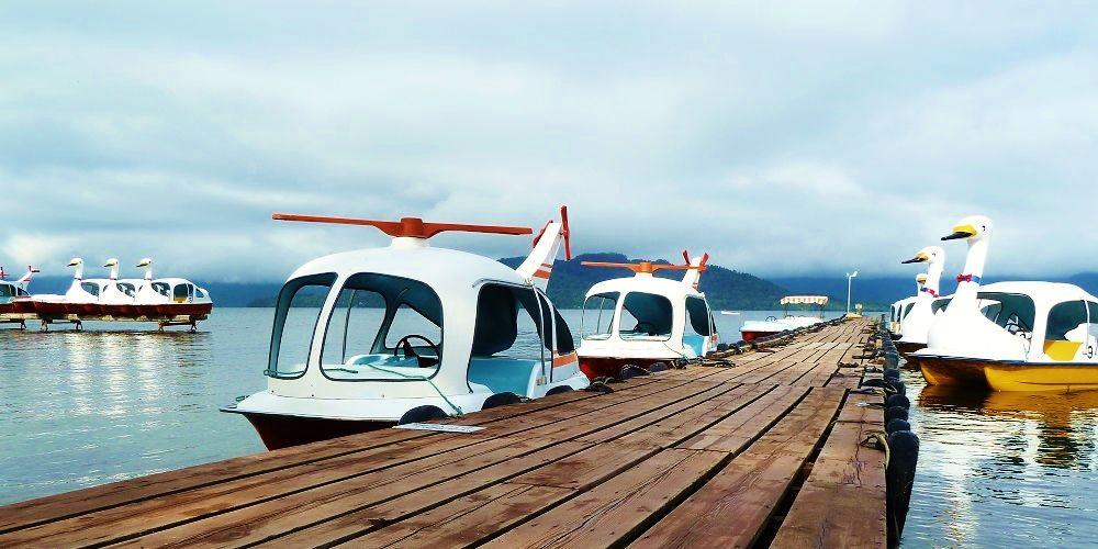 スワンボートに乗って屈斜路湖を眺めませんか?