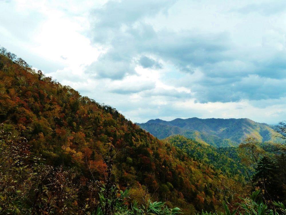 紅葉に染まる山々の絶景!