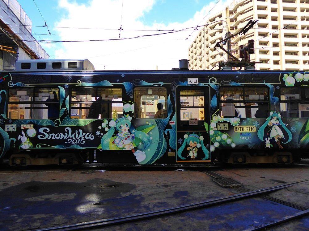 冬の札幌観光はかわいい「雪ミクラッピング市電」に乗ろう!