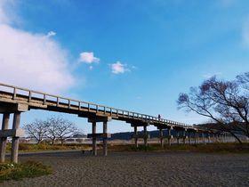 世界一長い木造歩道橋は長生きの橋!静岡県・島田市「蓬莱橋」