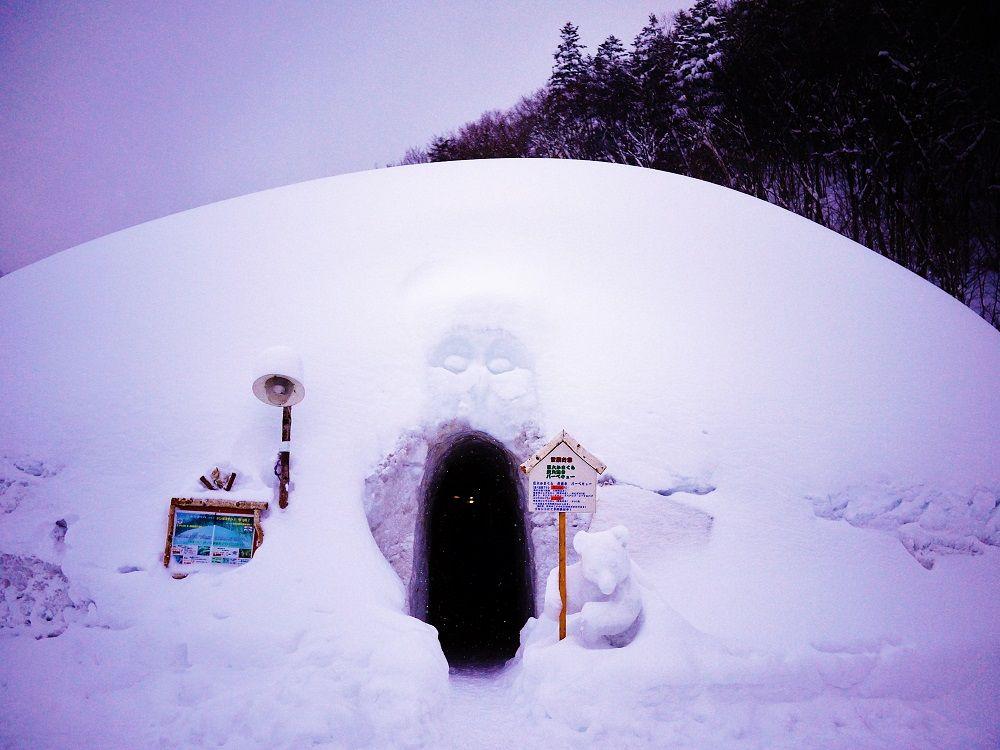 巨大かまくら登場!「豊平峡温泉」の冬