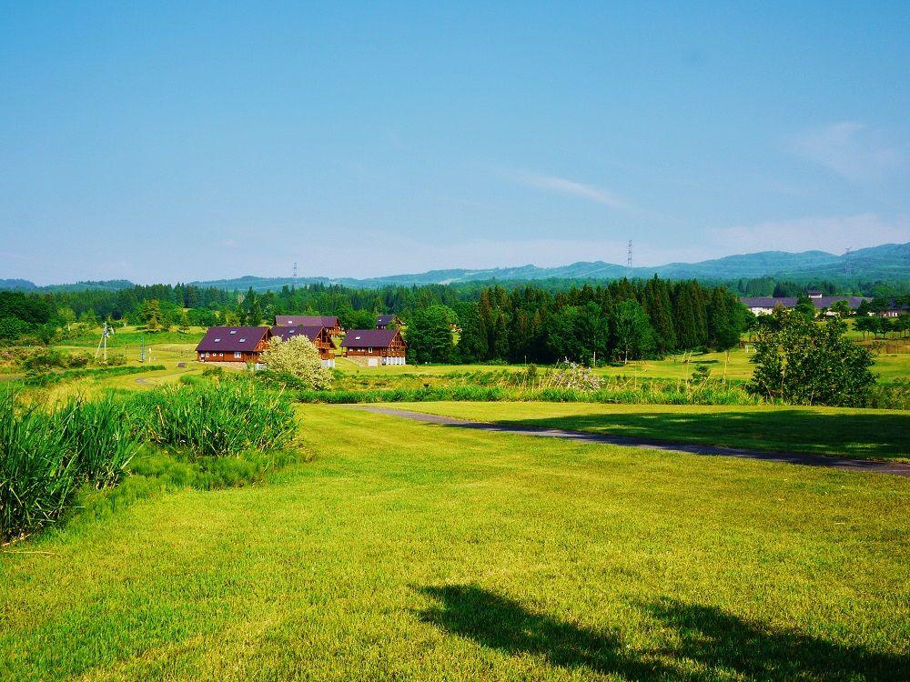 緑の大地が広がる「当間高原」も美しい!