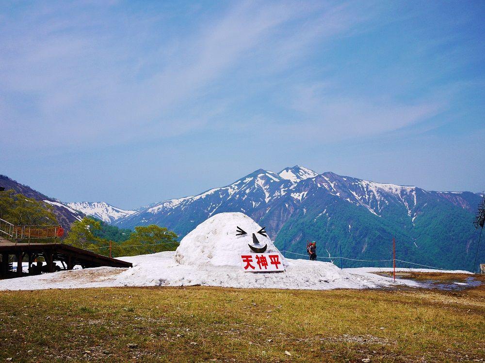 谷川岳ロープウェイ「天神平駅」から眺める残雪の絶景