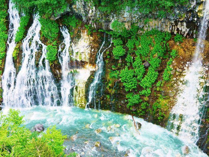 ブルーリバー美瑛川に落ちる美しい「白ひげの滝」
