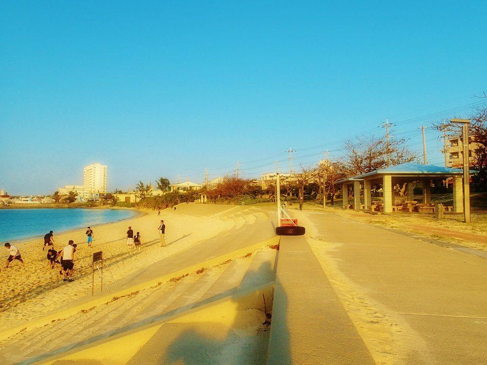 「パイナガマビーチ」一帯は公園として整備されています