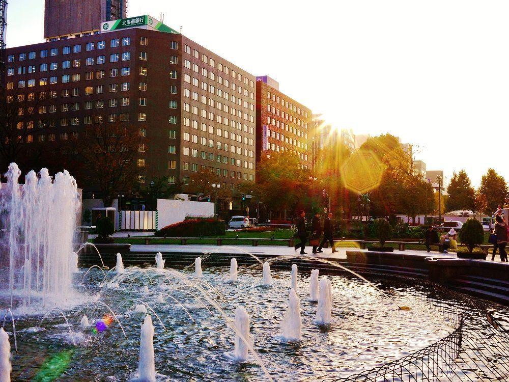 「大通公園」の噴水も美しい!