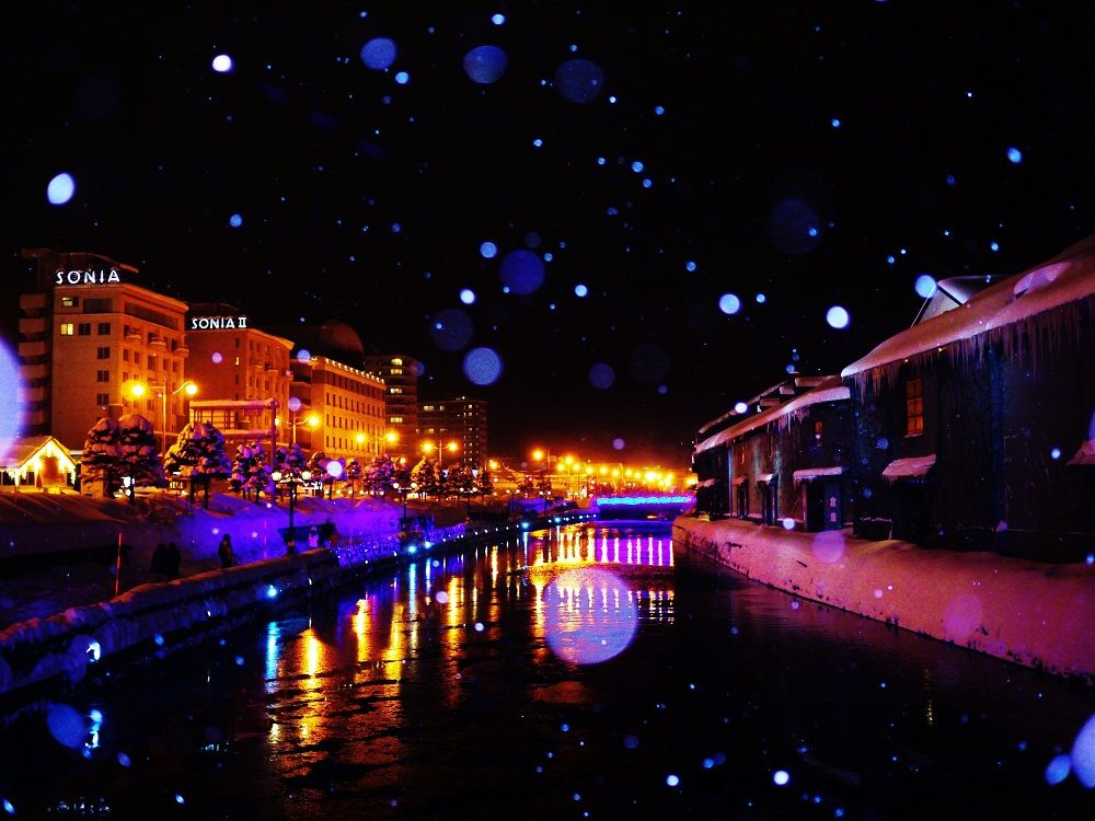 夜が美しすぎる北海道観光の鉄板スポット「小樽運河」