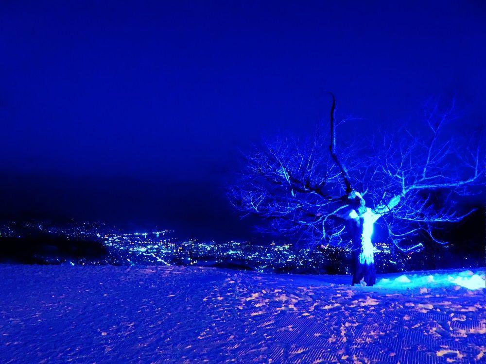 鉄板デートスポット!天狗山の夜景も幻想的にライトアップ