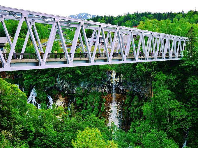 白ひげの滝へのアクセスは白金温泉から