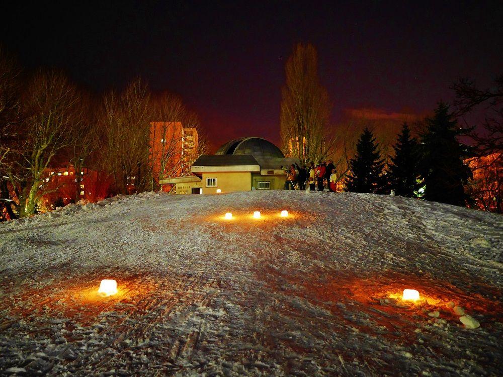 札幌市天文台から眺める冬の星座