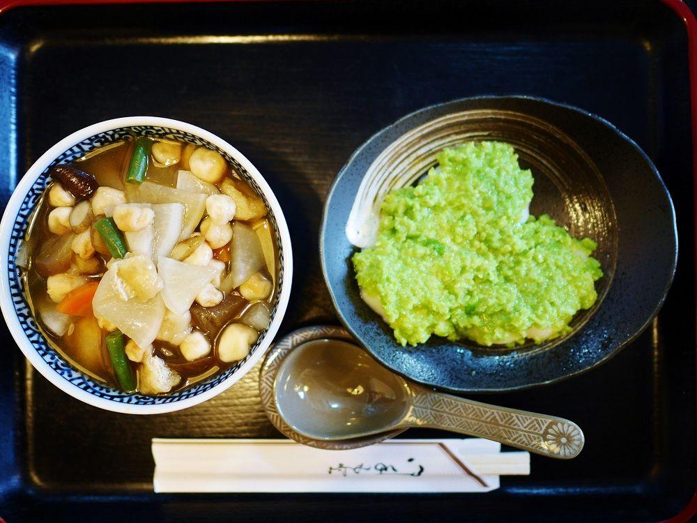 宮城県の郷土料理「おくずかけ」と一緒に食べる絶品ずんだ餅