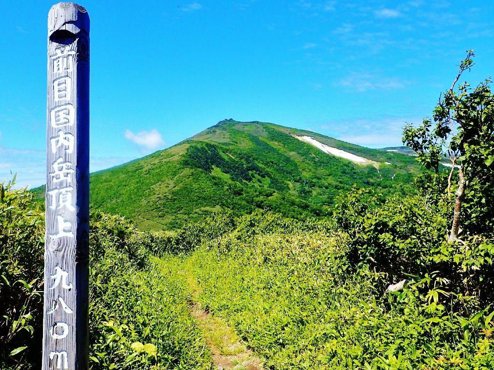 目国内岳山頂までの変化に飛んだ登山道の風景