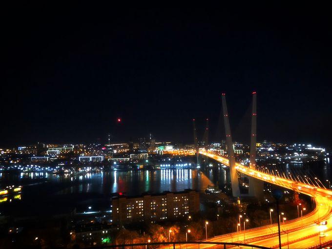 鷲の巣展望台からウラジオストクの夜景を一望!