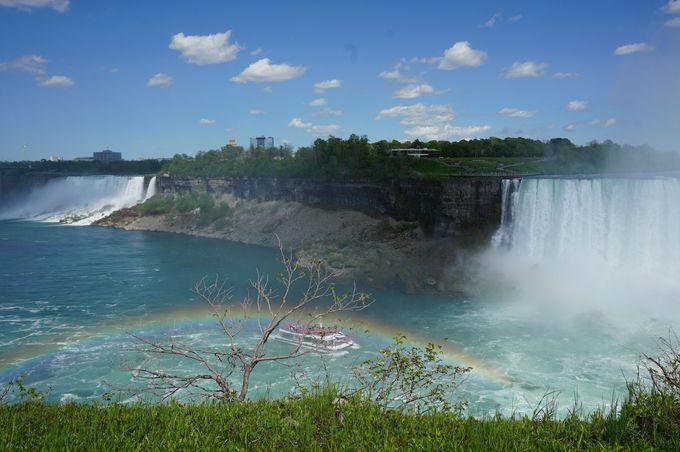 虹も?「ナイアガラの滝」インスタ映えスポット