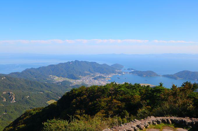 小豆島の地形美と瀬戸内海の大パノラマ!「大観望展望台」