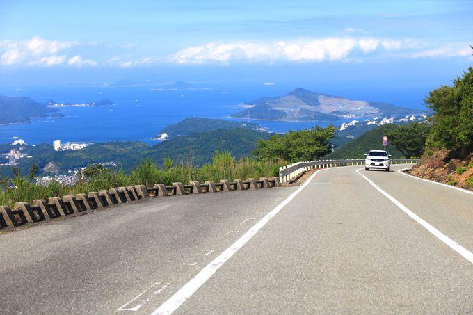 海に飛び込むパノラマ道路「伊勢志摩スカイライン(朝熊山頂展望台)」
