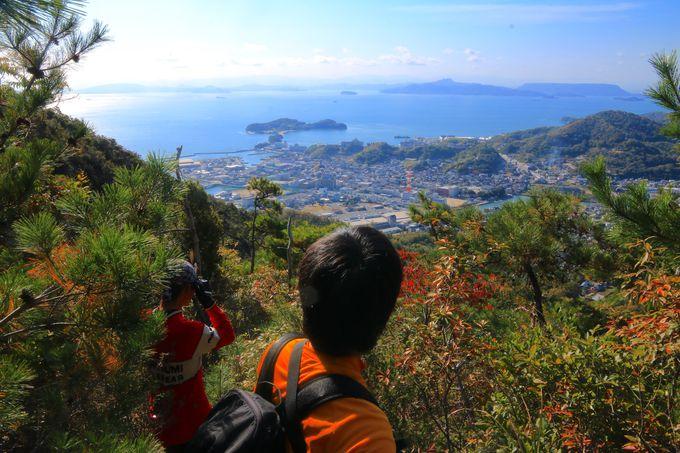 土庄と前島が思いっきり飛び込む!「皇踏山」から見る絶景の瀬戸内海