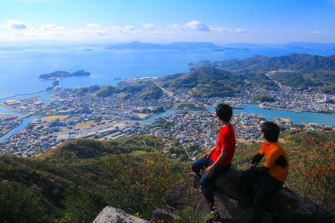 手軽ながら見られる景色は一級品!小豆島「皇踏山」