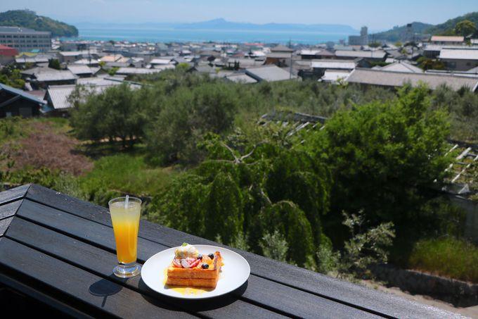 優雅なオリーブカフェ「菊太郎」で小豆島を目と口で楽しもう!