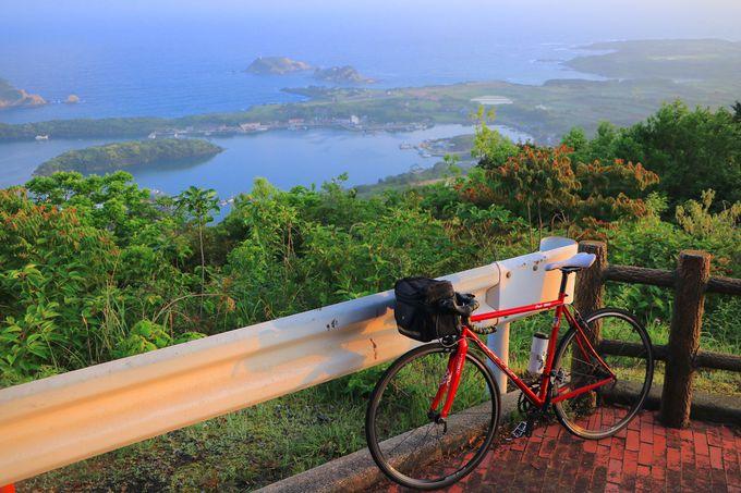 福江島を見渡す「城岳展望台」の絶景