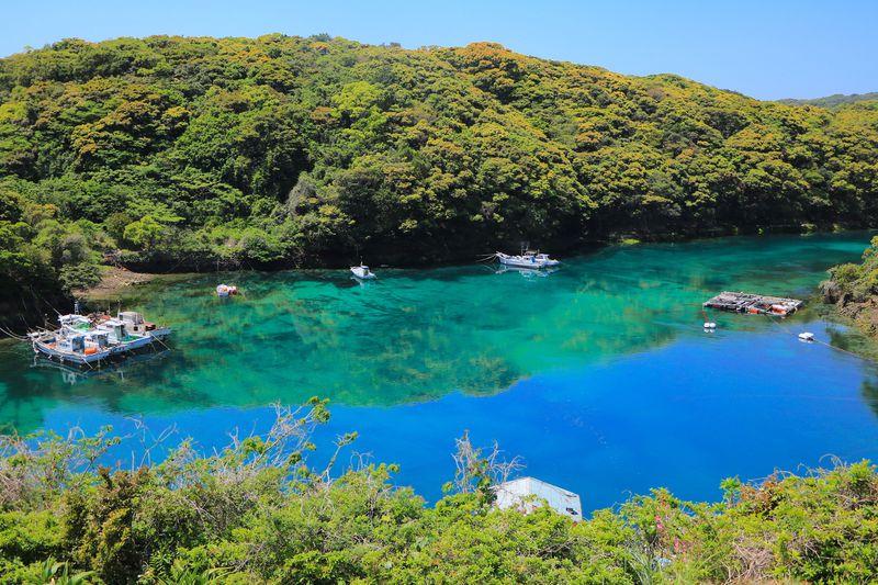 上五島「桐集落」が美しい!森に包まれるエメラルドグリーンの入り江