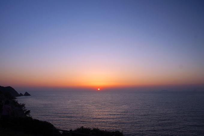 沈み行く最後の瞬間まで眺めていたい絶景!「矢堅目の夕日」